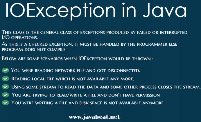 IOException Example in Java
