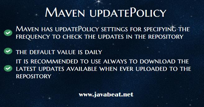 Maven updatePolicy Settings