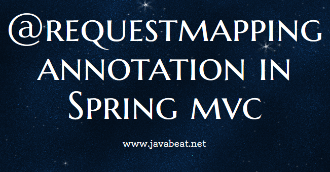 RequestMapping in Spring MVC