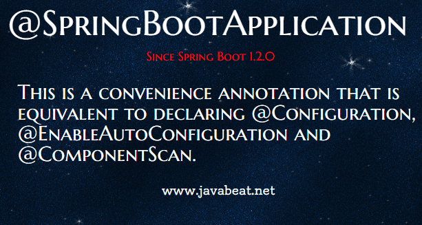 @SpringBootApplication Annotation