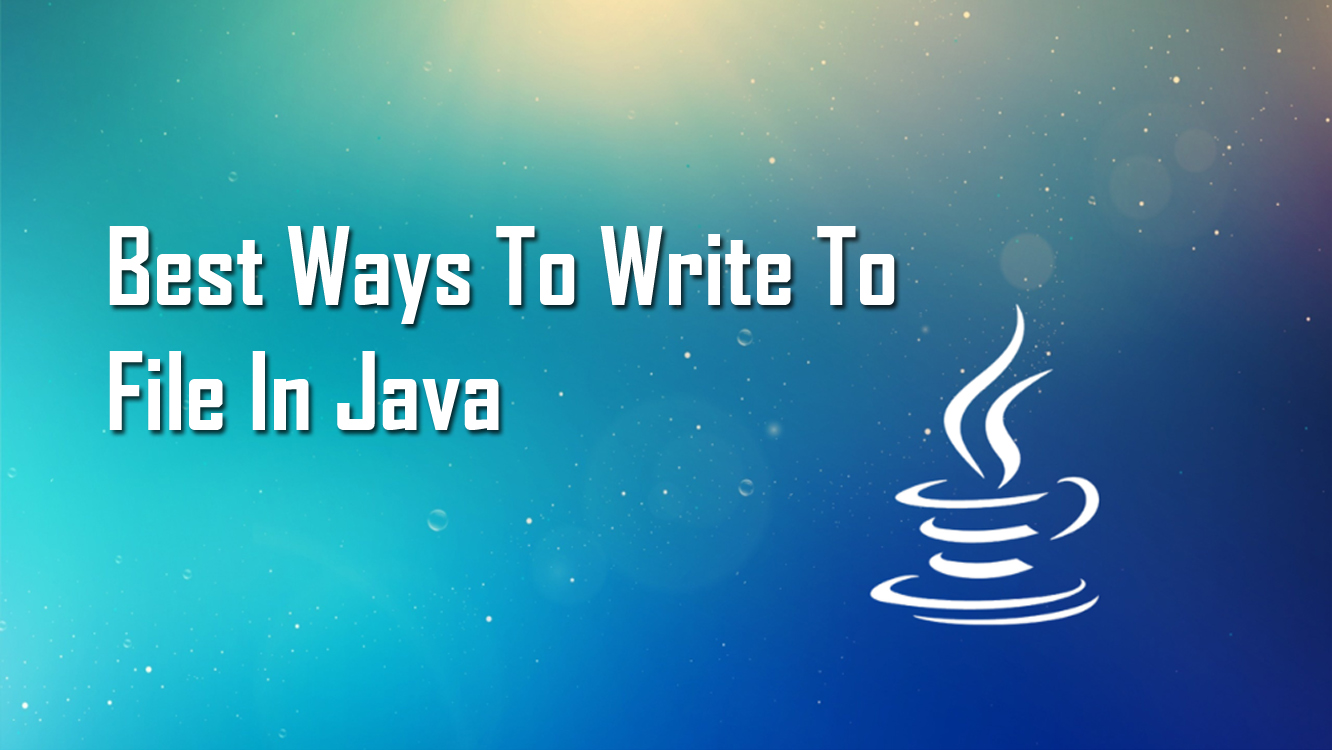 Write To File In Java