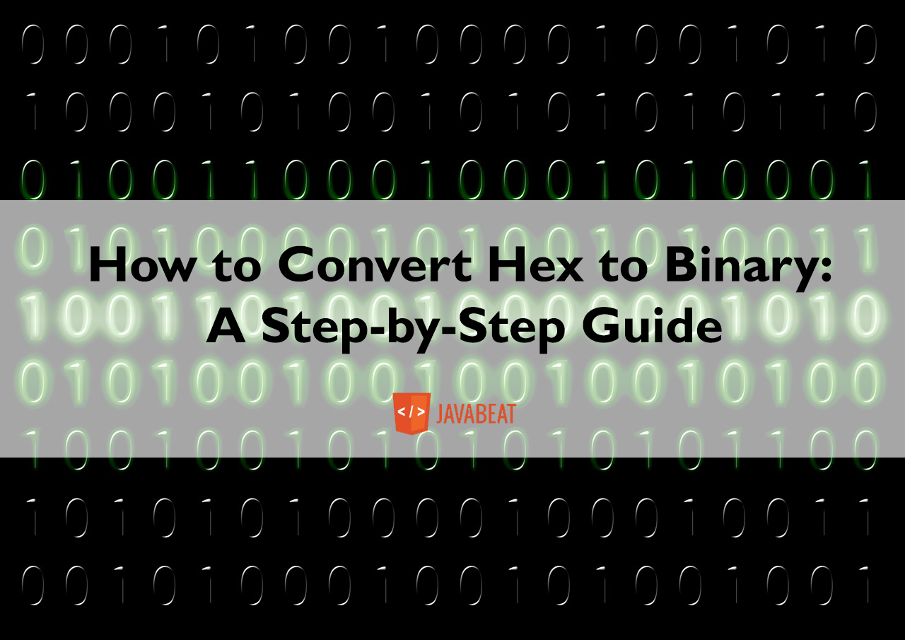 hex to binary