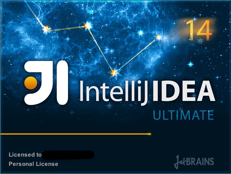 IntelliJ Logo on blue surface